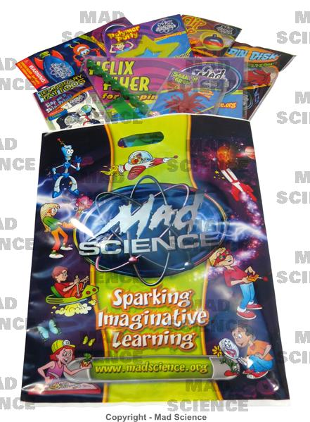 Goody bags invitations dry ice cotton candy rocket launch
